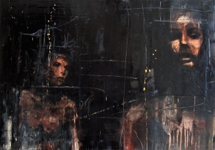 """the betrayal of Ariadne"", oil on canvas, 70 x 50 cm, 2006"