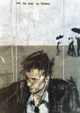 'a pocket full of rye - 14 July 2004 The butler's report', oil on canvas, 80 x 100 cm, 2004