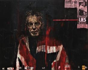 'ancor che mi sia tolto lo muover per le membra che son gravi ho io il braccio a tal mestiere sciolto', oil on canvas, 76 x 61 cm