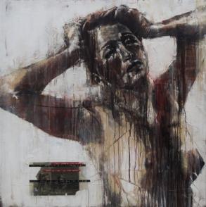 'cotali uscir de la schiera ov e dido', oil on canvas, 91 x 91cm