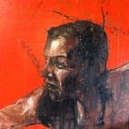 """Petrol bomber"", oil on canvas, 66 x 66 cm, 2007"