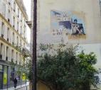 Rue Volta, Paris. Fresh, wet wallpaper paste.