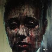 """""""Dreyfus"""", oil on canvas, 91 x 91 cm, 2009"""