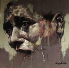 """Halabja"", oil on canvas, 90 x 90 cm, 2009"