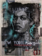 First of a pair of stencilled paste-ups for New York. In recognition of the lives lost there in 2001 - and consequently in Fallujah in 2004.