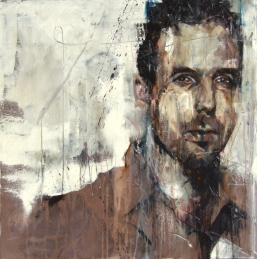 """Portrait of Antony Micallef"", oil on canvas, 61 x 61 cm, 2011"