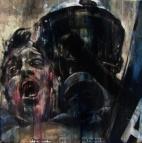 """Zeus and Cronus"", oil on canvas, 30 x 30 cm, 2012"