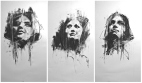 """Pussy Riot altarpiece"", conte on paper, 93 x 59 cm, 2012"