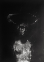 """""""She wanted to be the handsomest girl in the world"""", conte and chalk on paper, 40 x 60 cm, 2012"""
