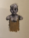"""""""The ordnance legate (the hand of man)"""", conte and chalk on paper, 20 x 30 cm, 2013"""