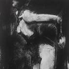 """""""Les fleurs du mal"""", conte and chalk on paper, 22 x 22 cm, 2015"""