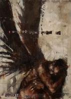 """Move him into the sun"", oil on canvas, 24 x 33 cm, 2015"