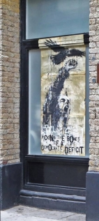 Following some election or other... Paste-up in London.