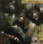"""(Ephphatha) John Sawyer knew in 1972"", oil on canvas, 15 x 15 cm, 2015"