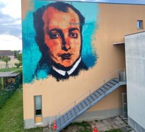 Victor Schœlcher mural in Fessenheim