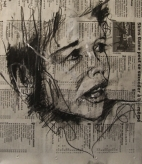 'a sound bet', conte and pastel on newsprint, 20 x 20cm
