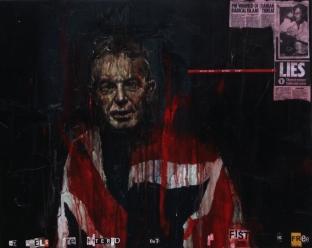 'Ancor che mi sia tolto lo muover per le membra che son gravi, ho io il braccio a tal mestiere sciolto', oil on canvas, 76 x 61cm