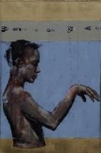 'che ritrarrà la mente che non erra', oil on canvas, 76 x 51cm