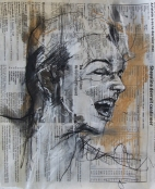 'crie', conte and pastel on newsprint, 24 x 29cm