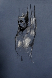 'Dante's paradise (ii)', conte and chalk on paper, 30 x 50 cm