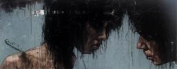 'fanno lamenti in su li alberi strani', oil on canvas, 152 x 61 cm, 2009