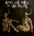 """"""" antes del vuelo de las brujas"""", conte, pastel and aerosol on paper, 100 x 100 cm, 2016"""