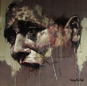 """Halabja"", oil on canvas, 90 x 90 cm, 2010"