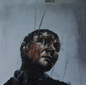 """Silvertown"", oil on canvas, 91 x 91 cm, 2010"