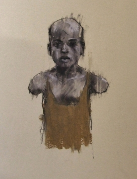 """""""The hand of man (the ordnance legate)"""", conte and pastel on paper, 20 x 30cm"""
