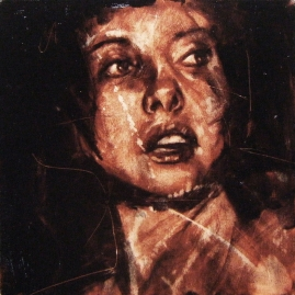 """""""maybe she's born with it"""", oil on canvas, 30 x 30cm, 2008"""