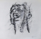 'occupy (Brooklyn Bridge arrest)', conte and pastel on paper, 30 x 29cm