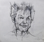 'occupy - somebody's got to keep 'em awake (Dorli Rainey)', conte and pastel on paper, 30 x 30cm