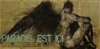 'paradis est ici (2)', conte and pastel on newsprint, 100 x 200 cm