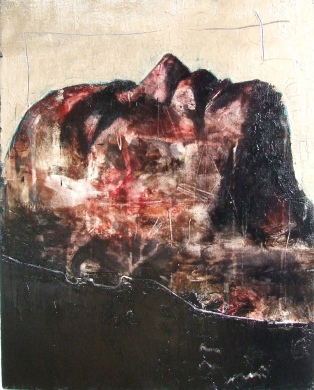 """slaughterhouse (land of the cockaigne)"", oil on canvas, 40 x 51 cm, 2009"