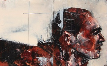"""""""the best a man can get"""", oil on canvas, 40 x 20cm, 2008"""
