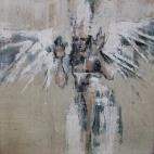 'The Empyrean (l'amor che move il sole e l'altre stelle)', oil on canvas, 30 x 30 cm