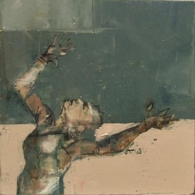 'The Empyrean', oil on canvas, 20 x 20 cm