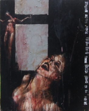 'there is no greater sorrow than to be mindful of the happy time in misery', oil on canvas, 76 x 61 cm, 2010
