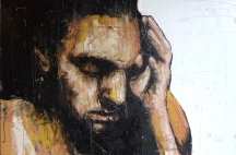 'Baghdad mourning'. oil on canvas, 50 x 75 cm, 2008