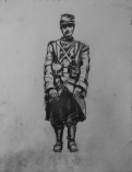 3718 armistice centenary drawing 64, compressed charcoal on paper, 27 x 33 cm 2018