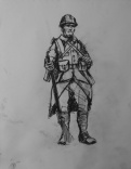 3725 armistice centenary drawing 59, compressed charcoal on paper, 27 x 33 cm 2018