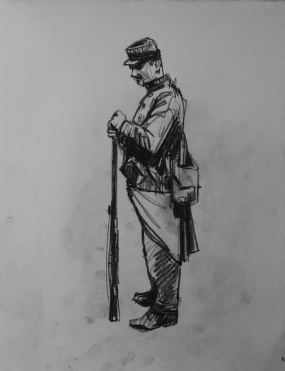 3730 armistice centenary drawing 6, compressed charcoal on paper, 27 x 33 cm 2018