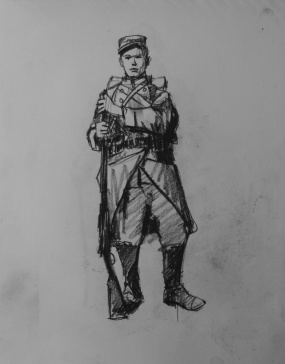 3736 armistice centenary drawing 14, compressed charcoal on paper, 27 x 33 cm 2018