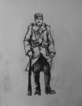 3748 armistice centenary drawing 28, compressed charcoal on paper, 27 x 33 cm 2018