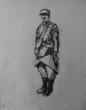 3781 armistice centenary drawing 18, compressed charcoal on paper, 27 x 33 cm 2018