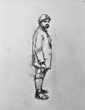 3823 armistice centenary drawing 102, compressed charcoal on paper, 27 x 33 cm 2018