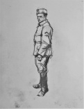 3844 armistice centenary drawing 82, compressed charcoal on paper, 27 x 33 cm 2018