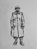 3848 armistice centenary drawing 78, compressed charcoal on paper, 27 x 33 cm 2018