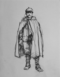 3850 armistice centenary drawing 76, compressed charcoal on paper, 27 x 33 cm 2018